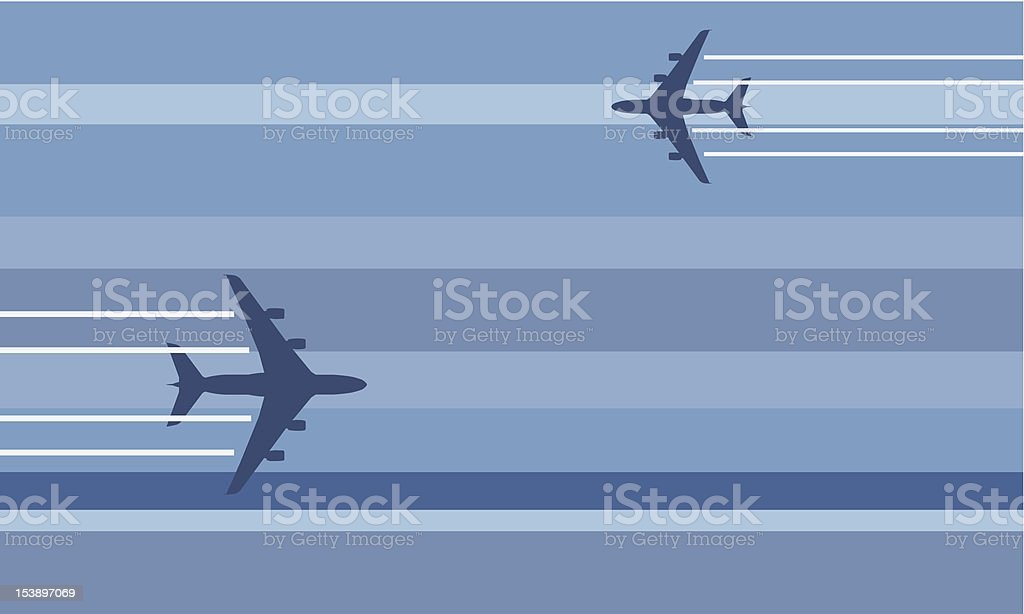 flying aircrafts royalty-free stock vector art