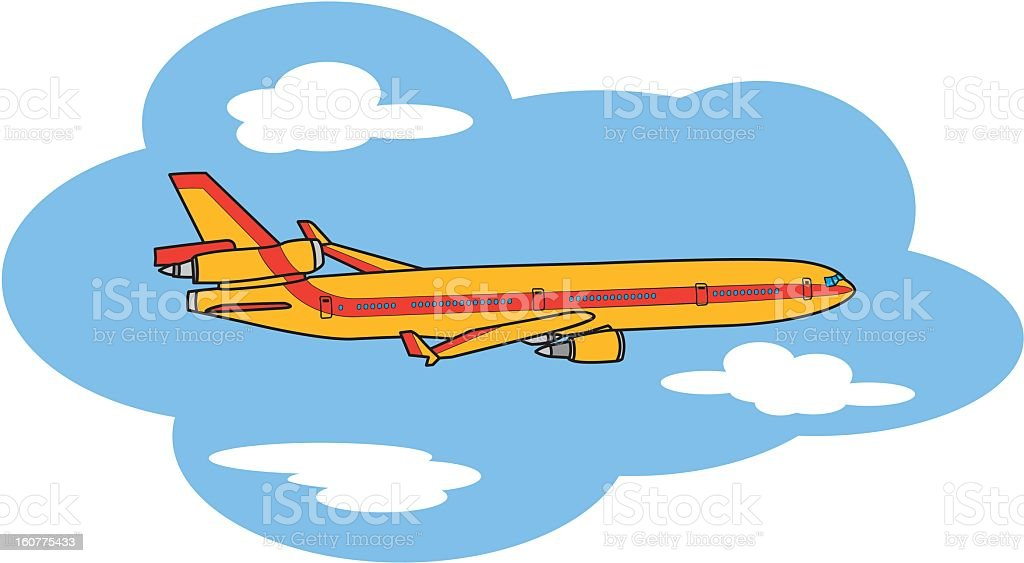 Flying Airplane royalty-free stock vector art