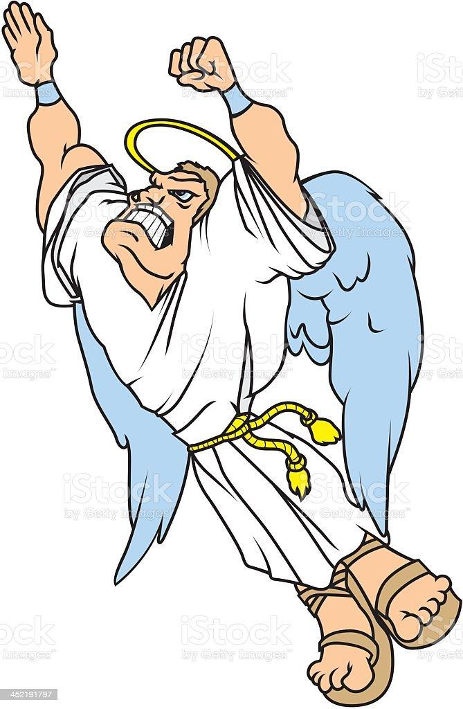 Flying Angel royalty-free stock vector art