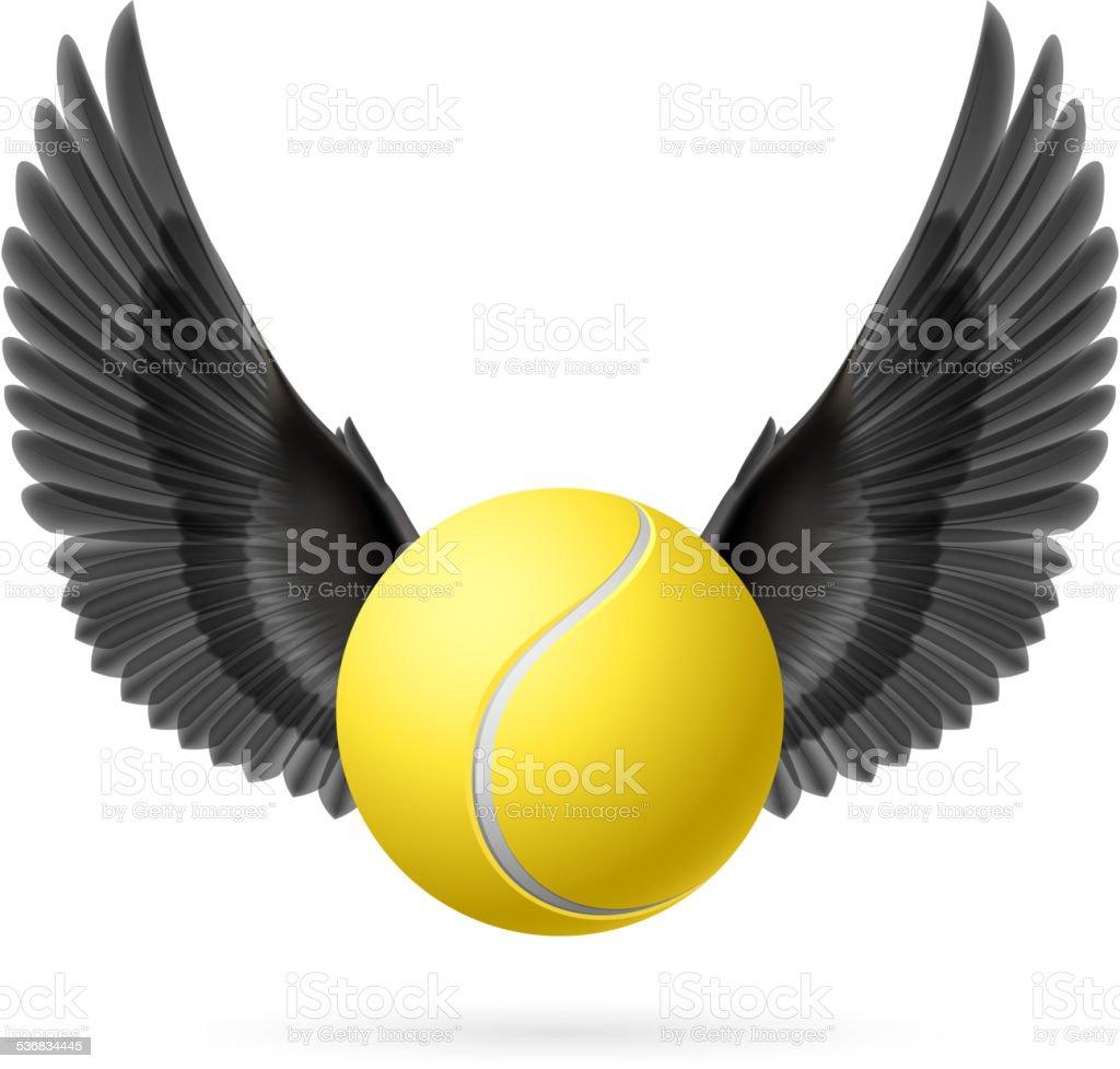 Flying ball vector art illustration