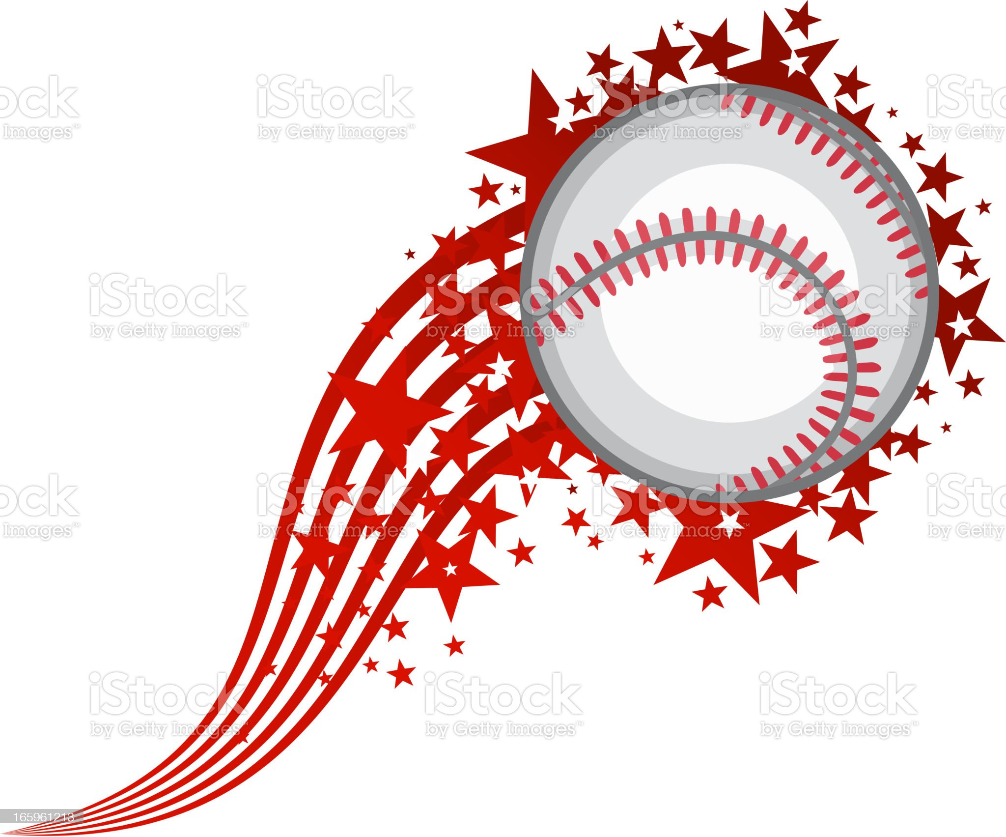 Flying Baseball Ball royalty-free stock vector art