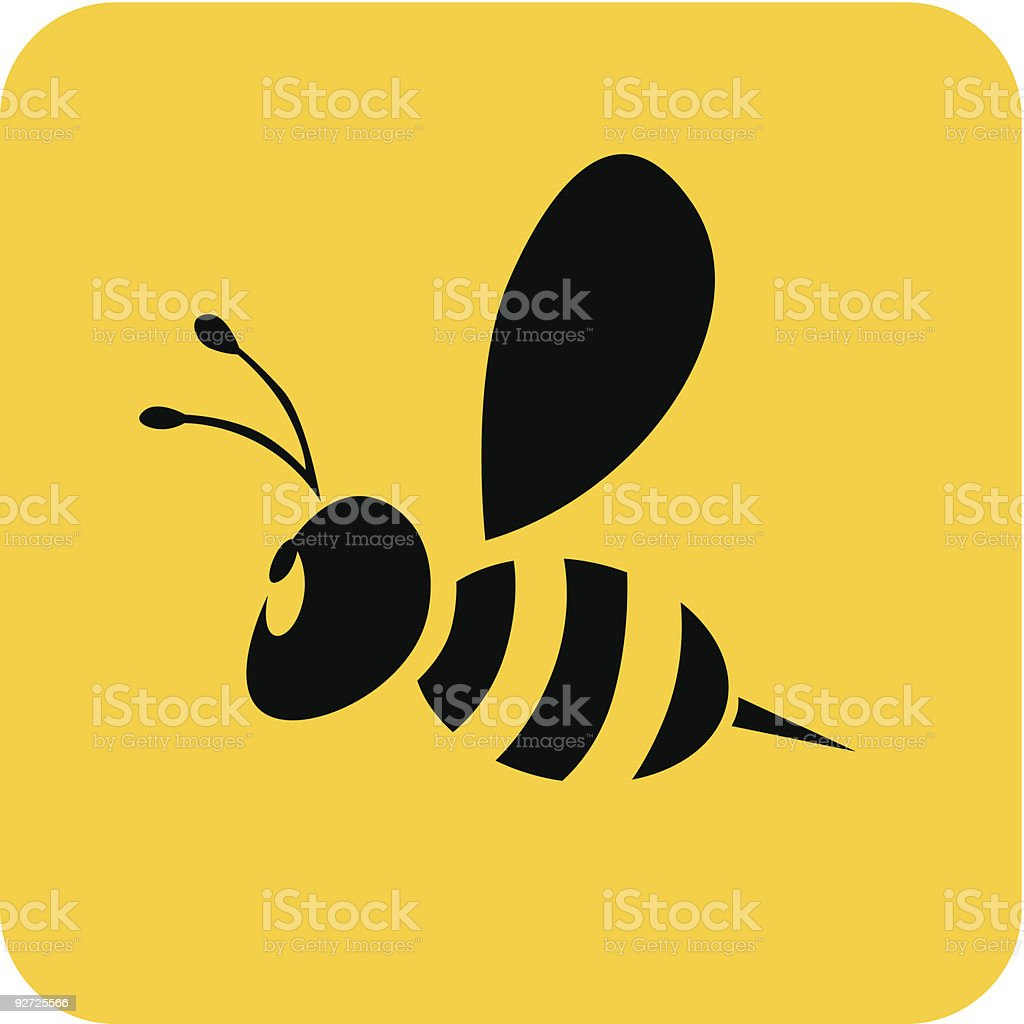 Flying Bee royalty-free stock vector art