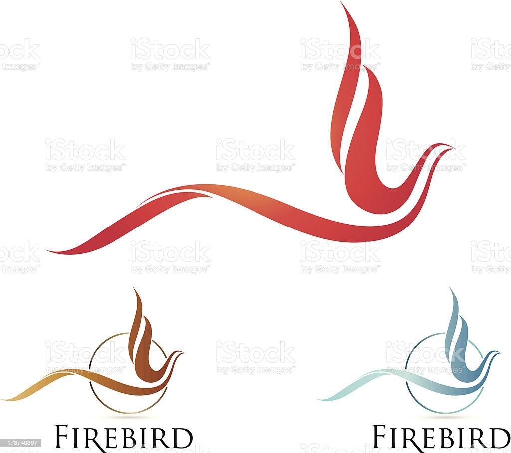 Flying bird illustration royalty-free stock vector art