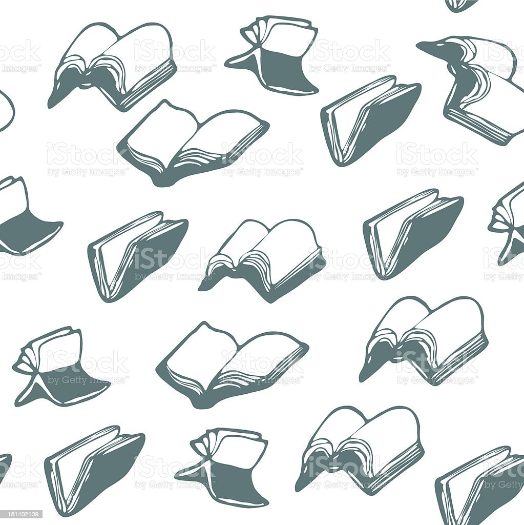 flying Books, patterns royalty-free stock vector art