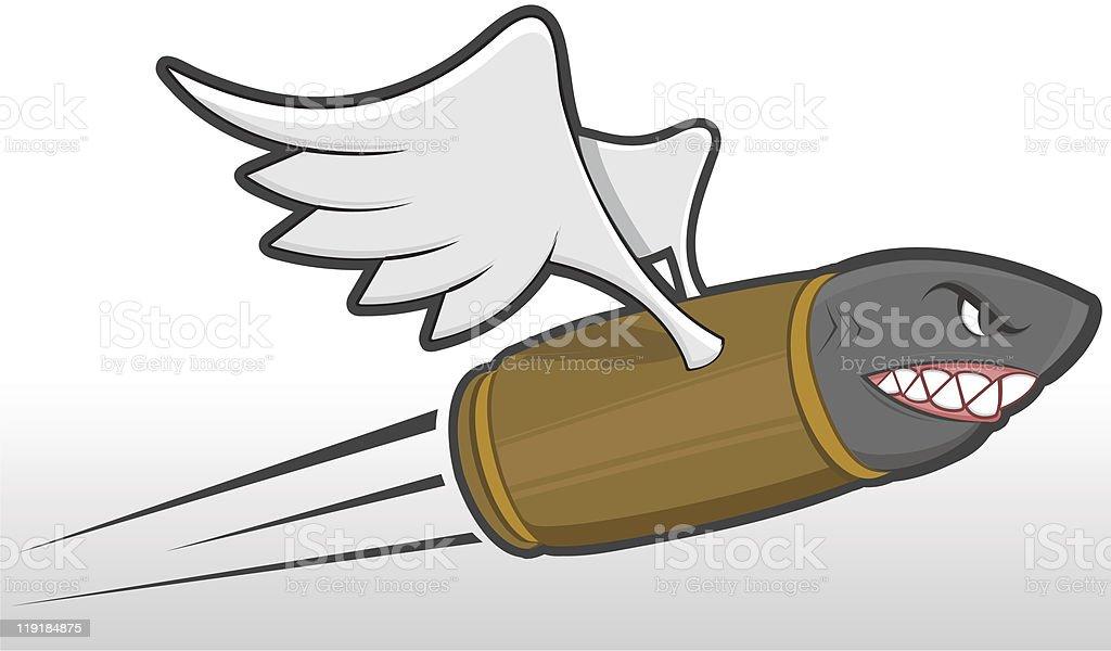 Flying Bullet - Mascot royalty-free stock vector art