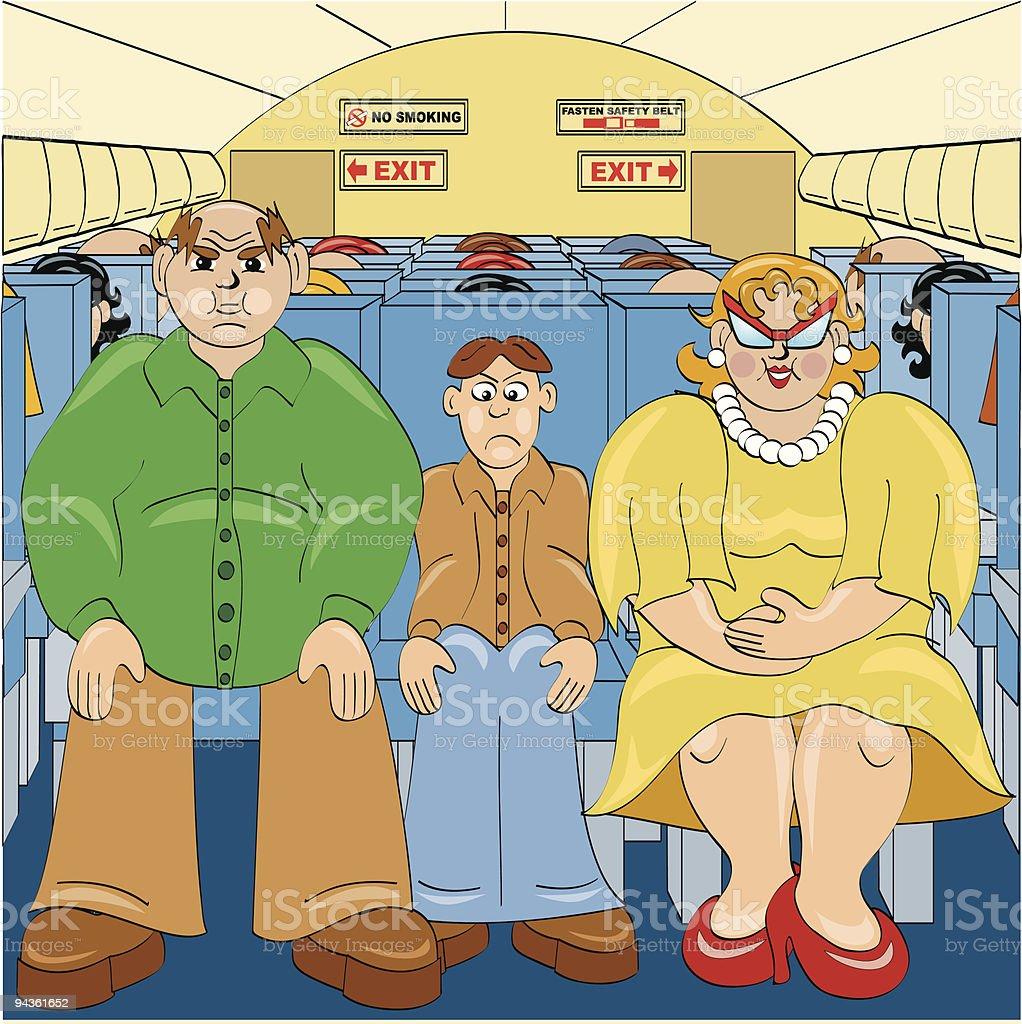 Flying Coach vector art illustration