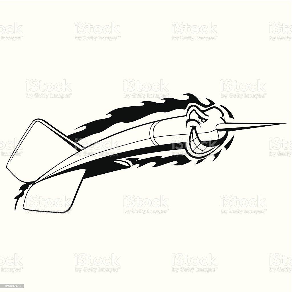 flying dart vector art illustration