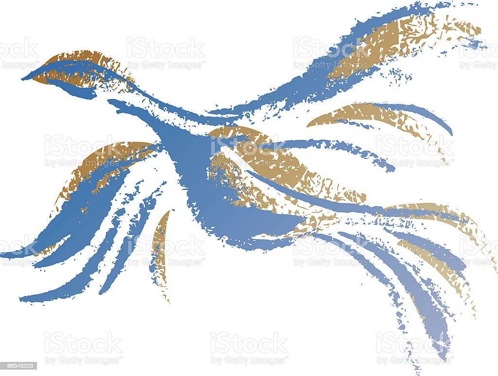 Flying Dove royalty-free stock vector art
