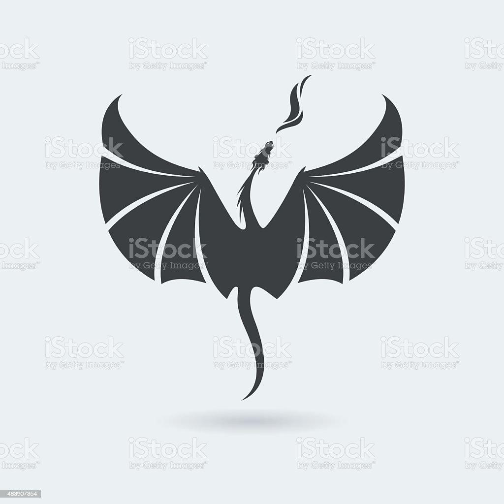 Flying Dragon icon vector art illustration