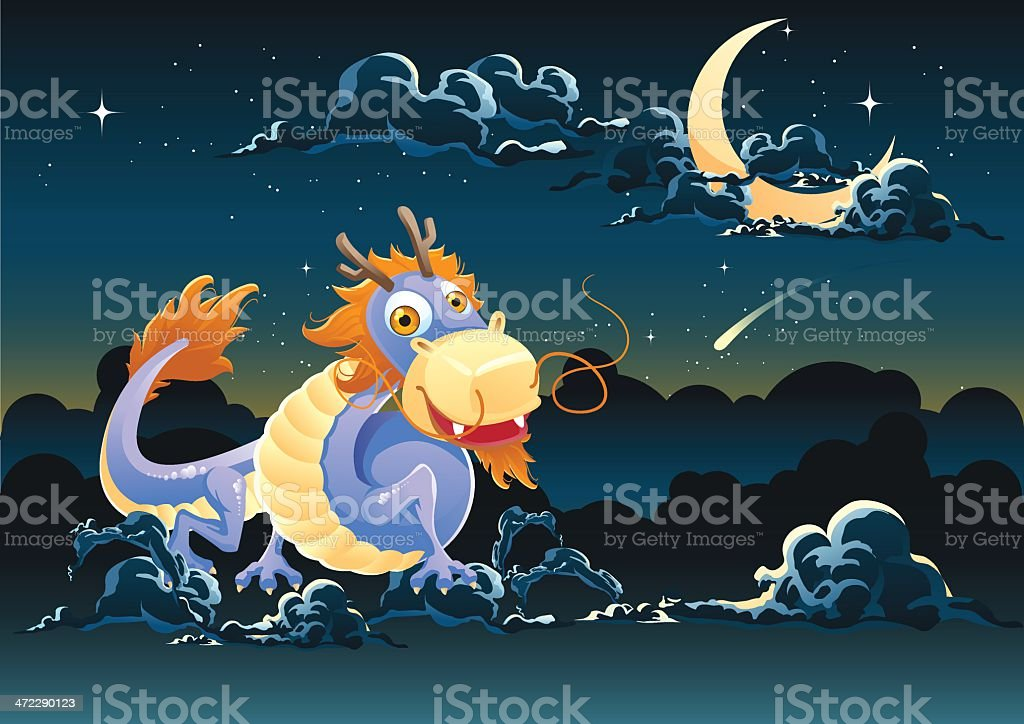 Flying Dragon royalty-free stock vector art