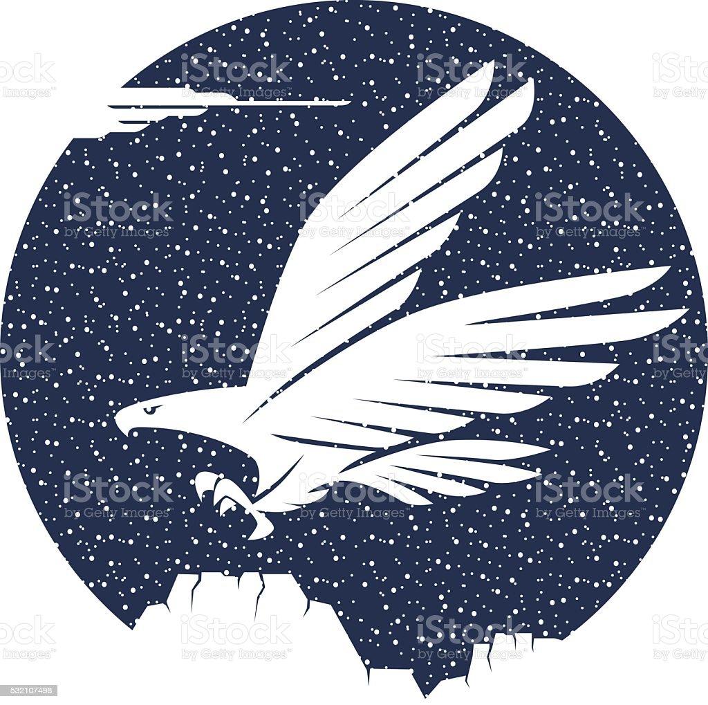 flying eagle vector art illustration