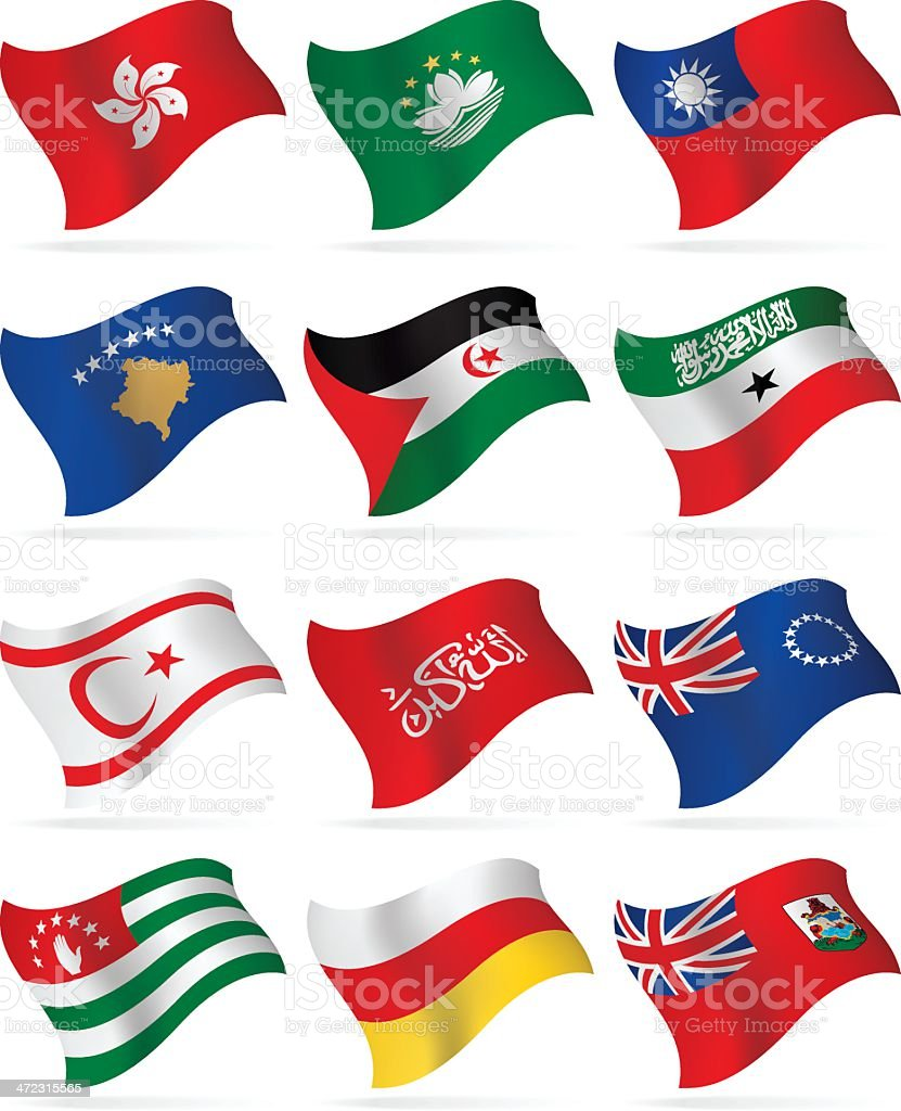 Flying Flags Collection - additional countries royalty-free stock vector art