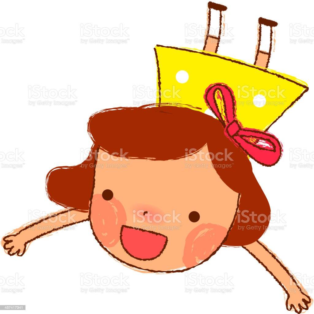 flying girl royalty-free stock vector art