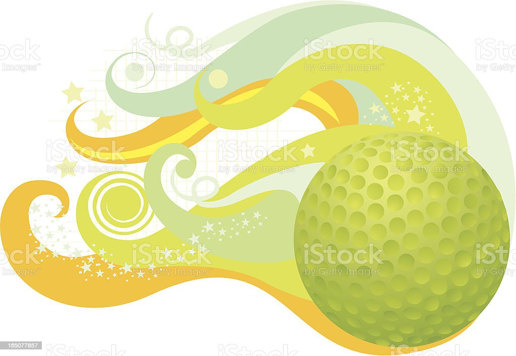 Flying golfball royalty-free stock vector art