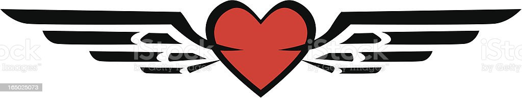flying heart vector symbol royalty-free stock vector art