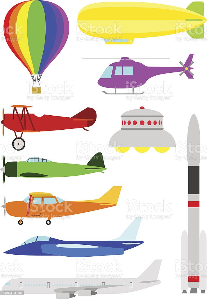Flying Objects royalty-free stock vector art