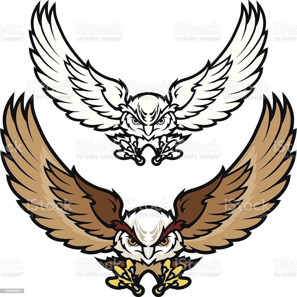Flying Owl vector art illustration