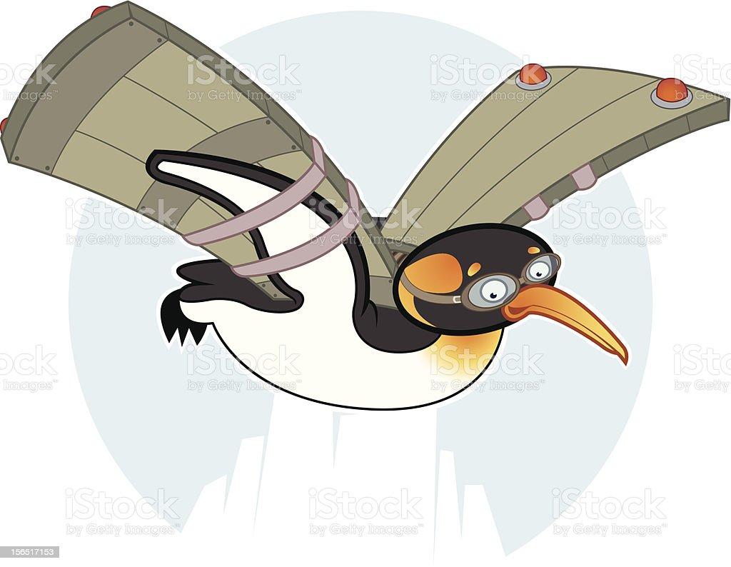 Flying Penguin royalty-free stock vector art