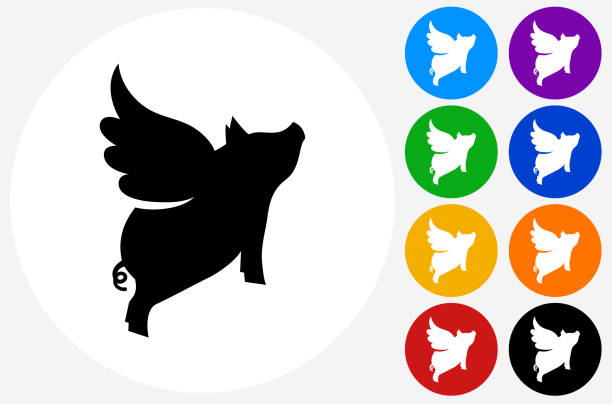 Pig Wings Clip Art, Vector Images & Illustrations