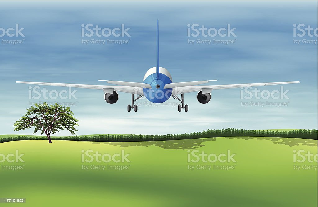 Flying plane royalty-free stock vector art