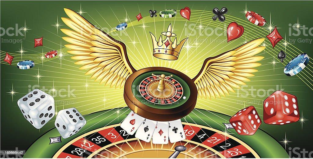 Flying Roulette royalty-free stock vector art