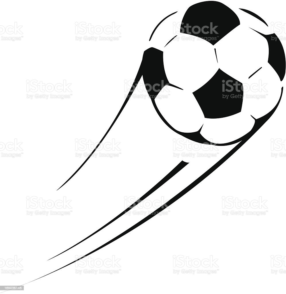 Flying Soccer Ball royalty-free stock vector art