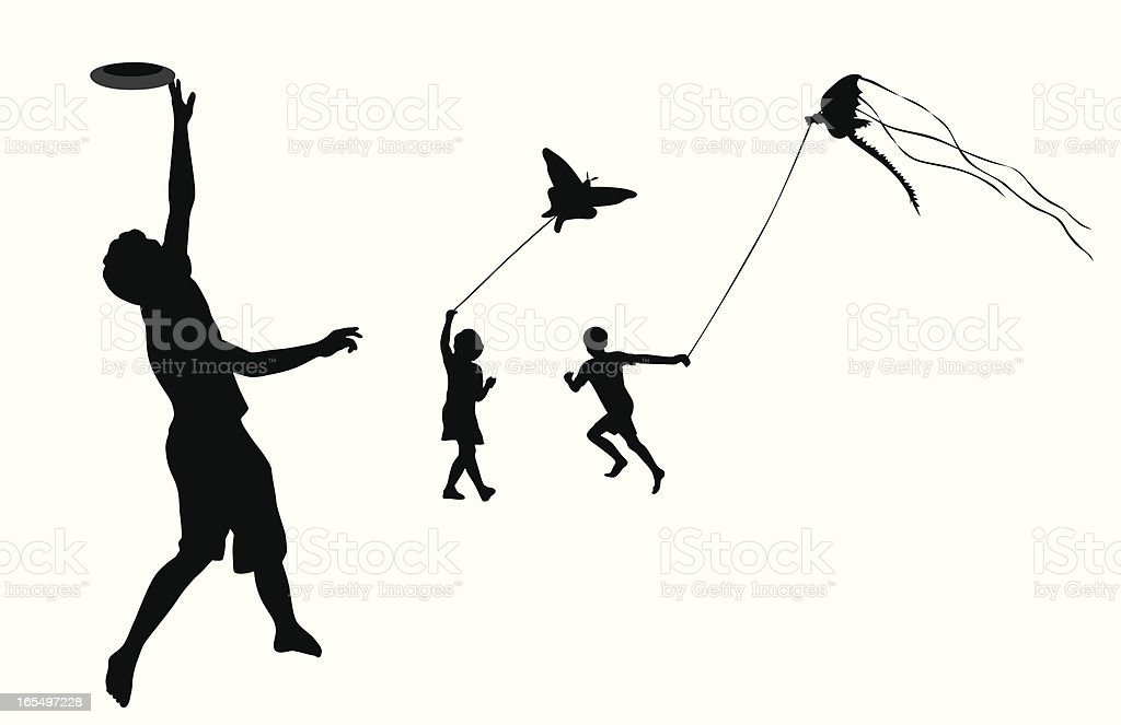 Flying Things Vector Silhouette royalty-free stock vector art