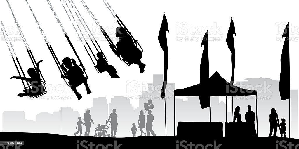 Flying royalty-free stock vector art