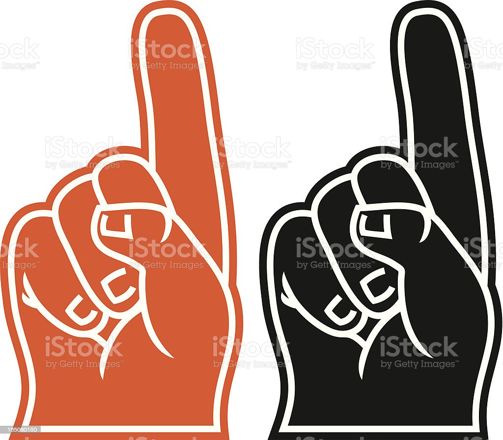 Foam Finger vector art illustration