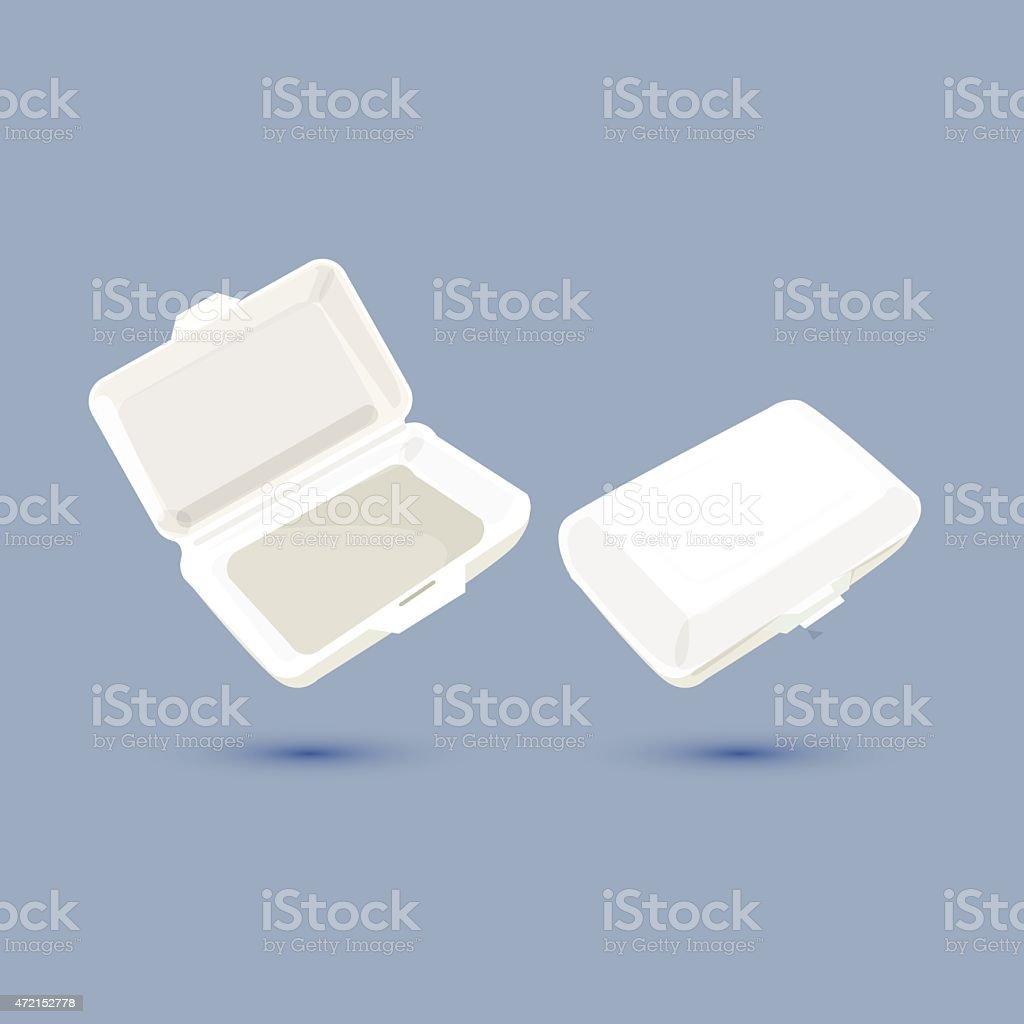 foam lunch box - vector ilustration vector art illustration