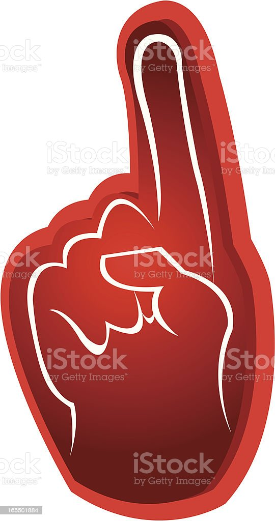 Foam Rally Finger - Number One Sports Symbol royalty-free stock vector art