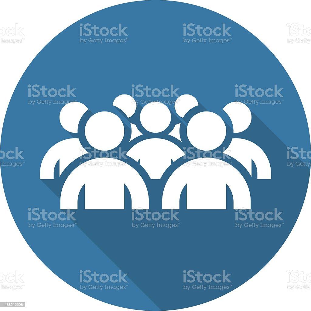 Focus Groupe Icon. Business Concept. Flat Design. vector art illustration