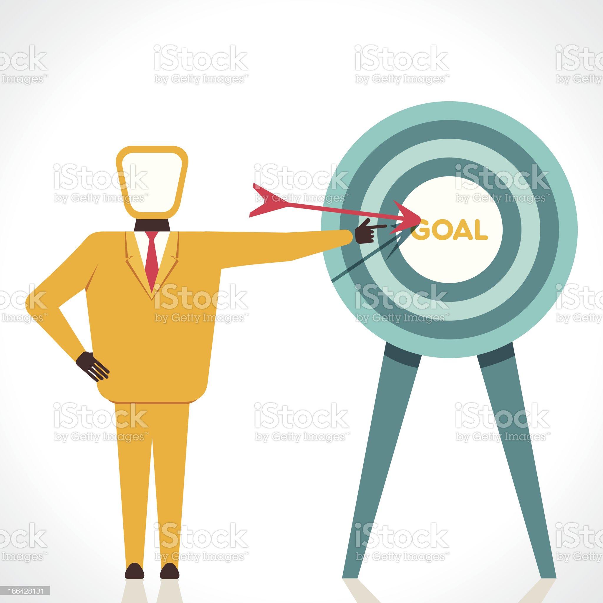focus on goal royalty-free stock vector art