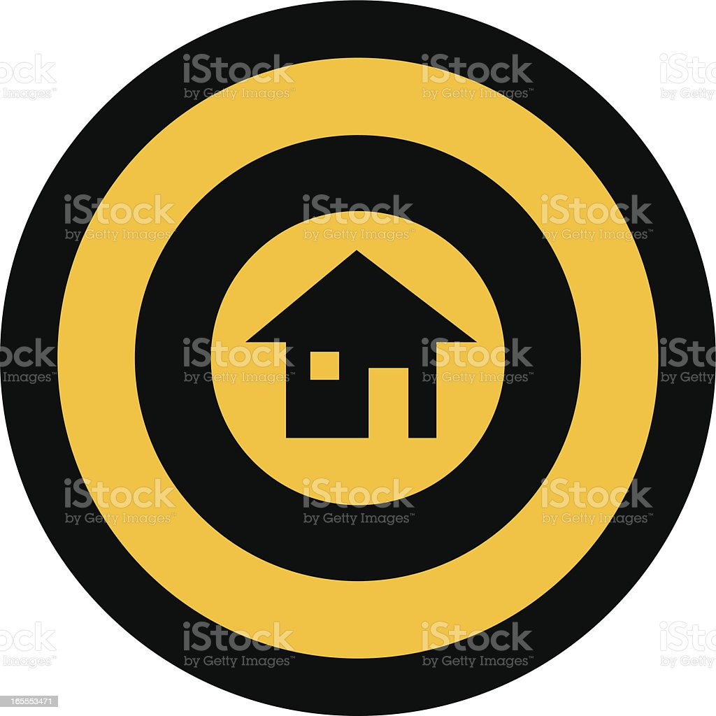 focus on the house royalty-free stock vector art