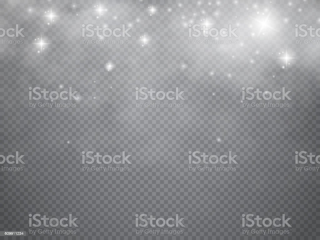 Fog or smoke with glow light isolated transparent special effect vector art illustration