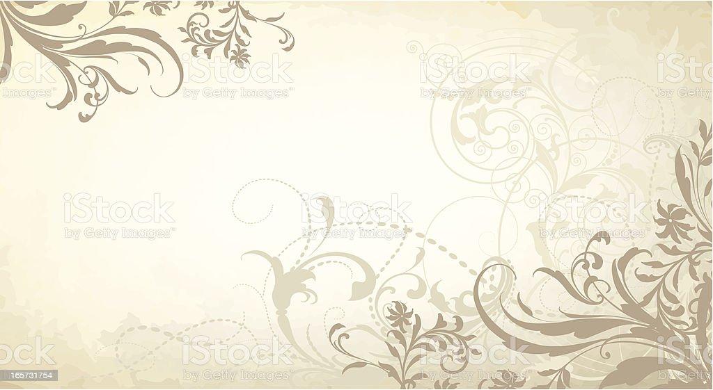 Foggy Mountain Scrollwork royalty-free stock vector art