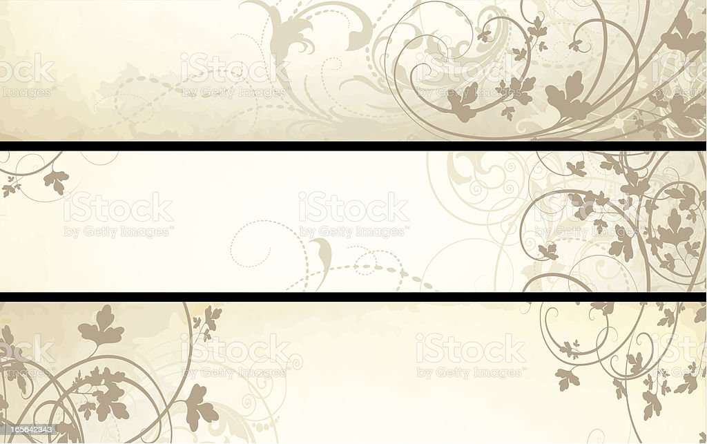 Foggy Scrollwork Banners vector art illustration