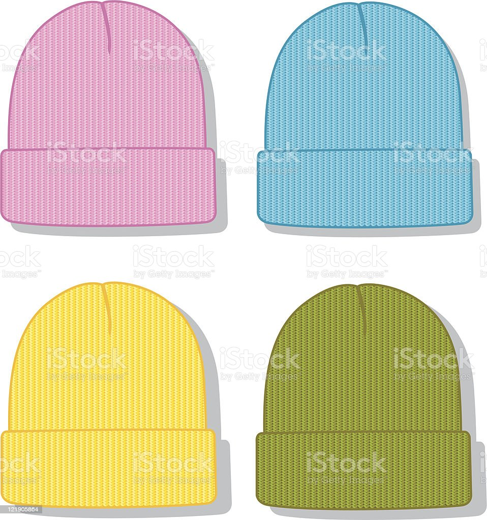 Fold Up Beanie vector art illustration