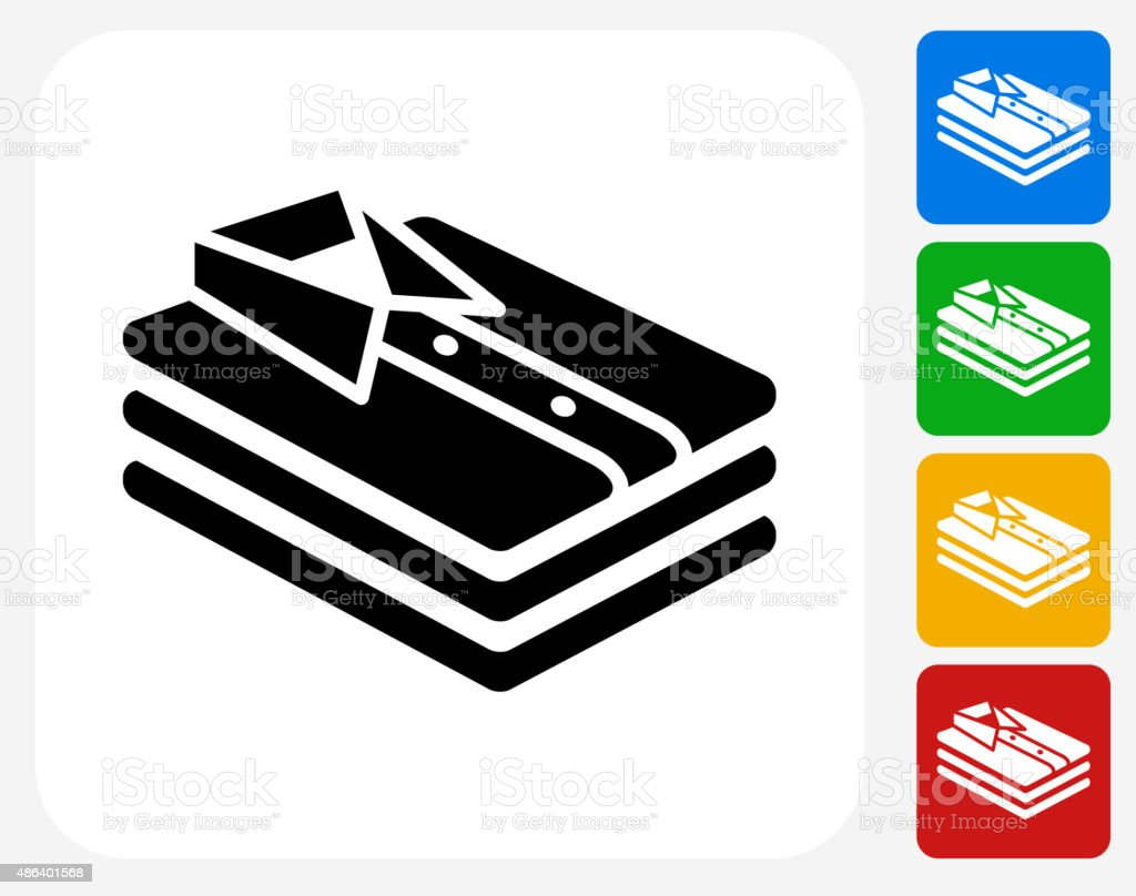 Folded Clothes Icon Flat Graphic Design vector art illustration