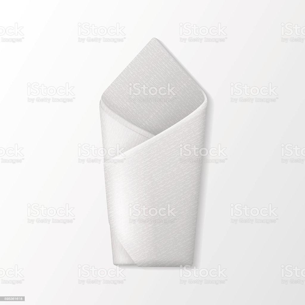 Folded Envelope Napkin Top View. Table Setting vector art illustration