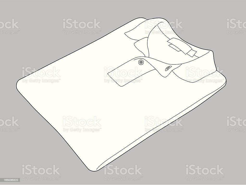 Folded Knit Shirt royalty-free stock vector art