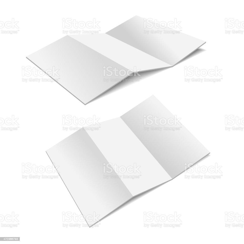 Folded Paper. royalty-free stock vector art