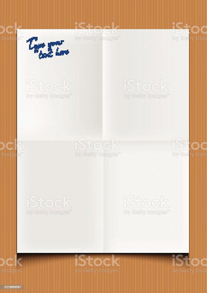 Papier Plié stock vecteur libres de droits libre de droits