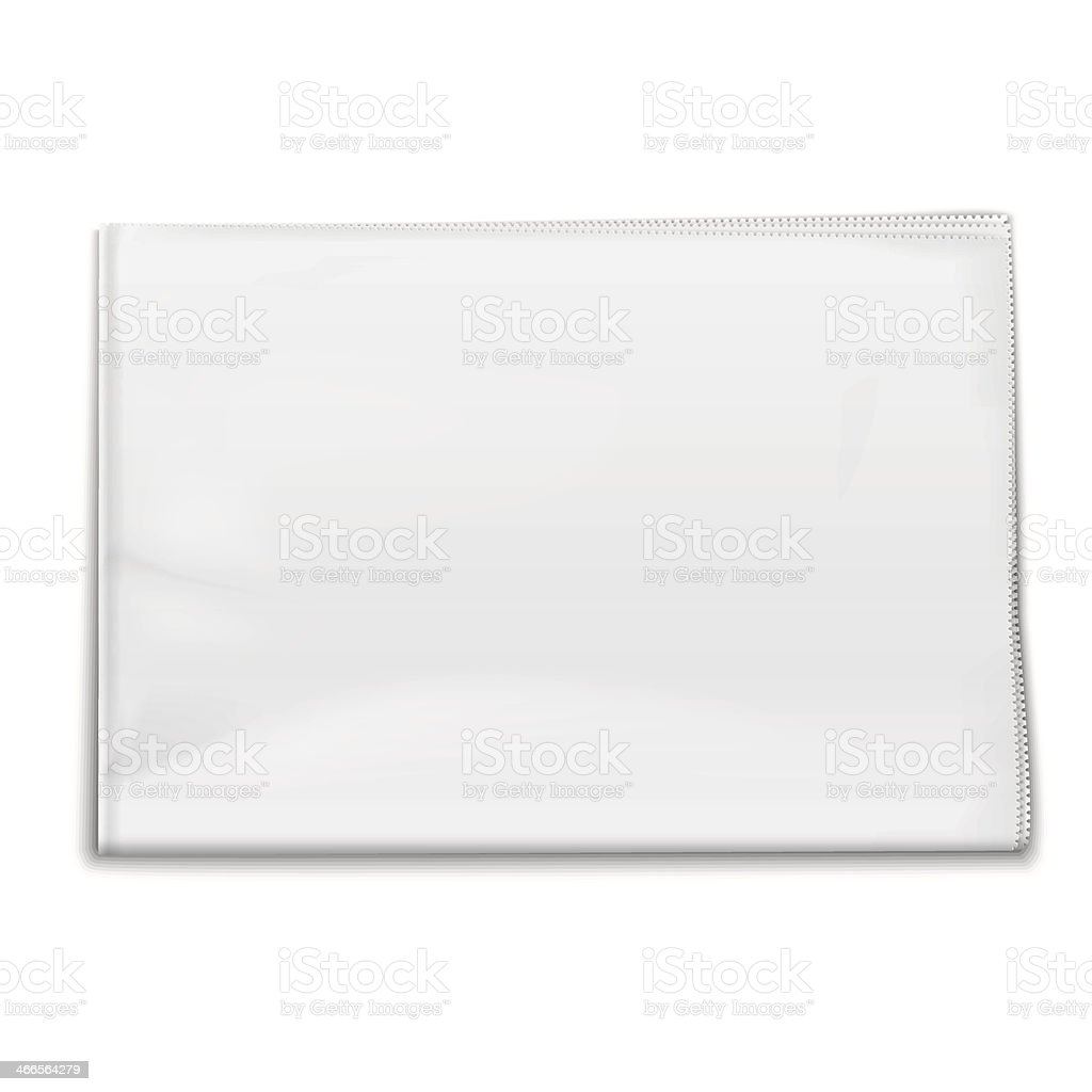 A folded piece of white cloth with seamed edges royalty-free stock vector art