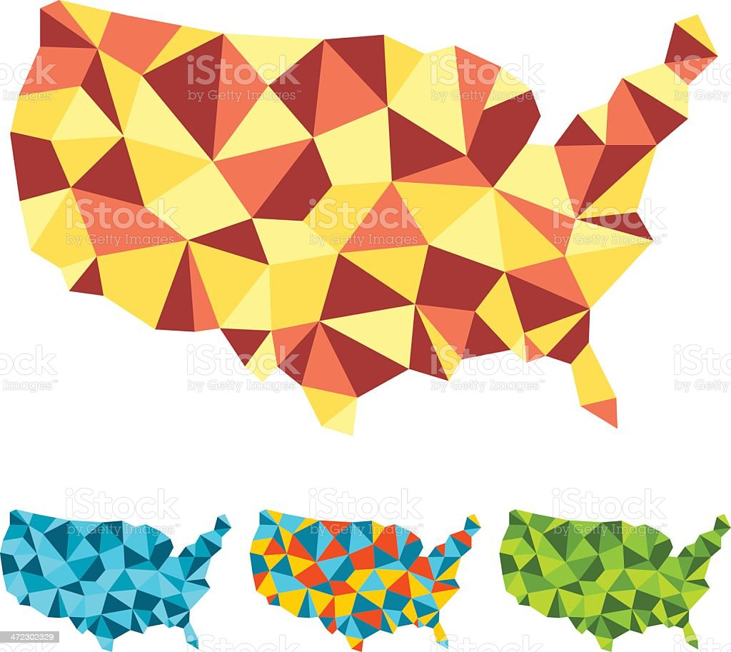Folded USA royalty-free stock vector art
