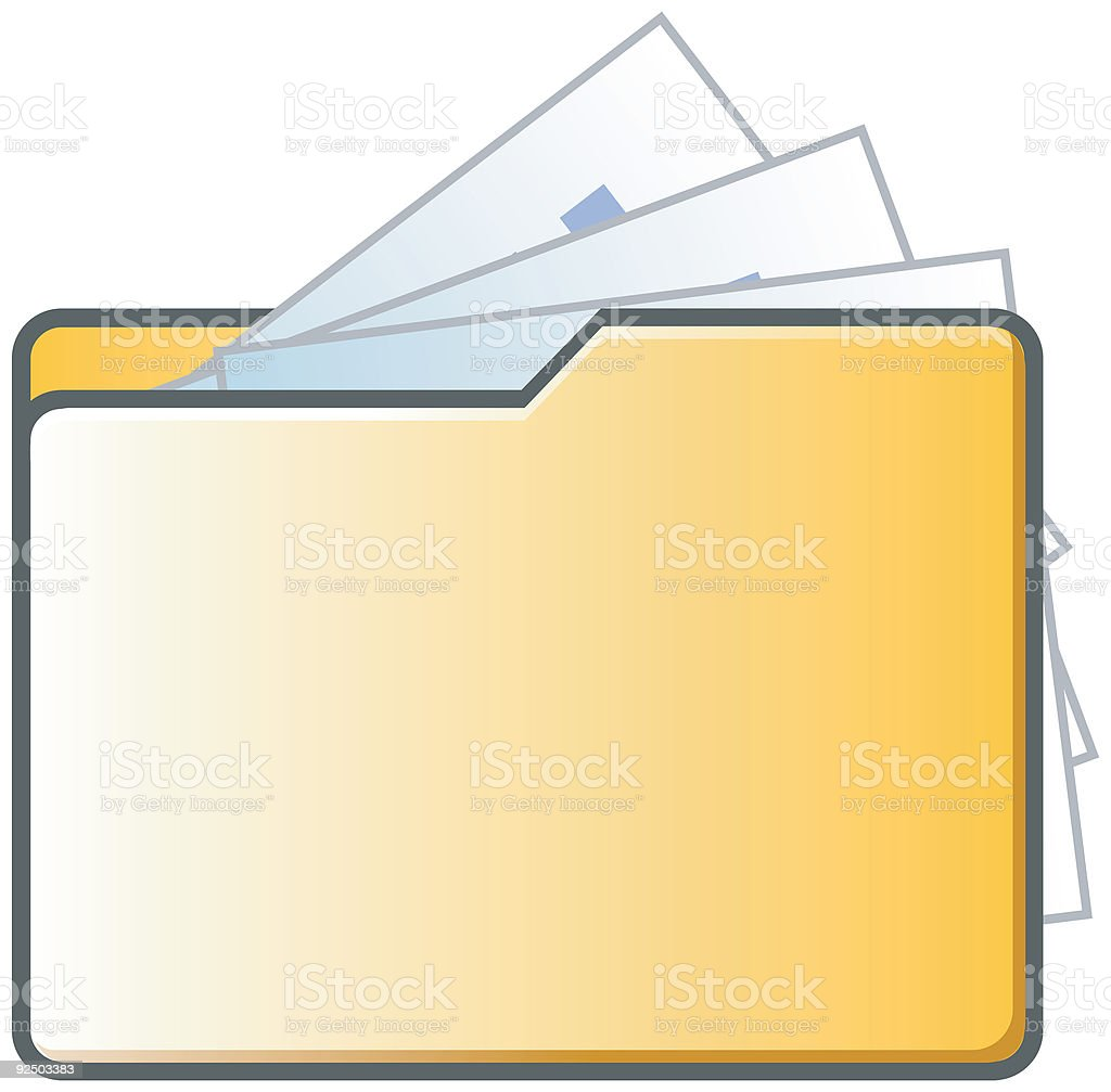 Folder and Files Vector icons royalty-free stock vector art