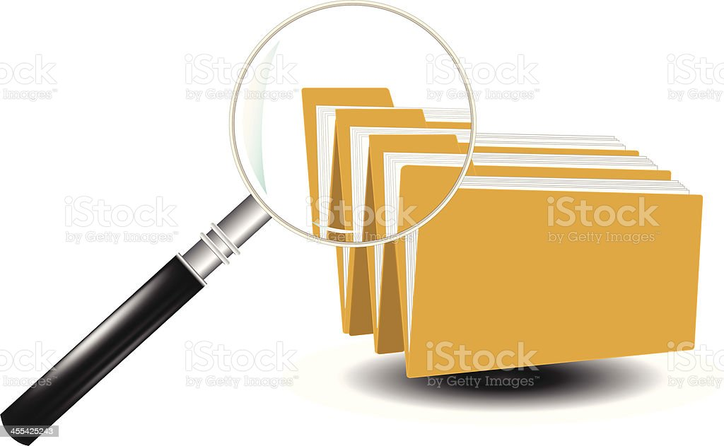 Folder Document File Search royalty-free stock vector art