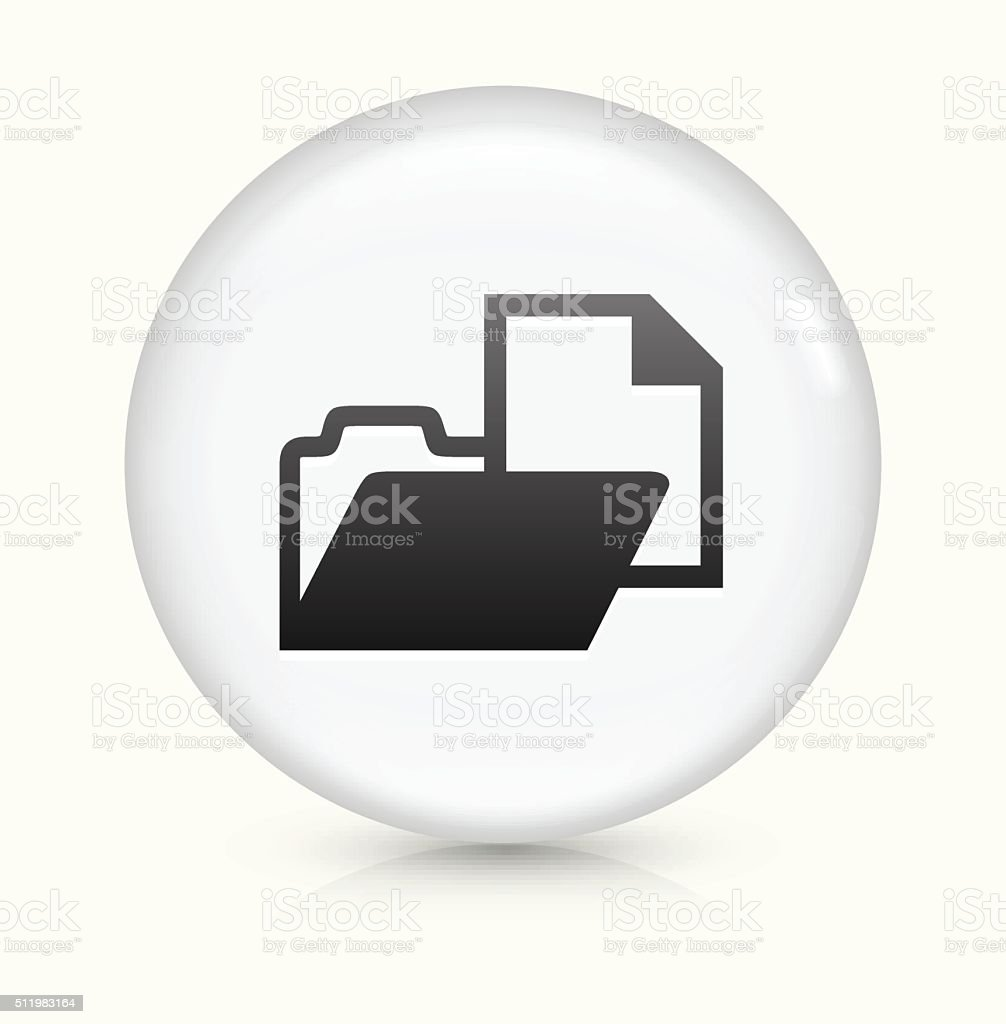 Folder File with Document icon on white round vector button vector art illustration