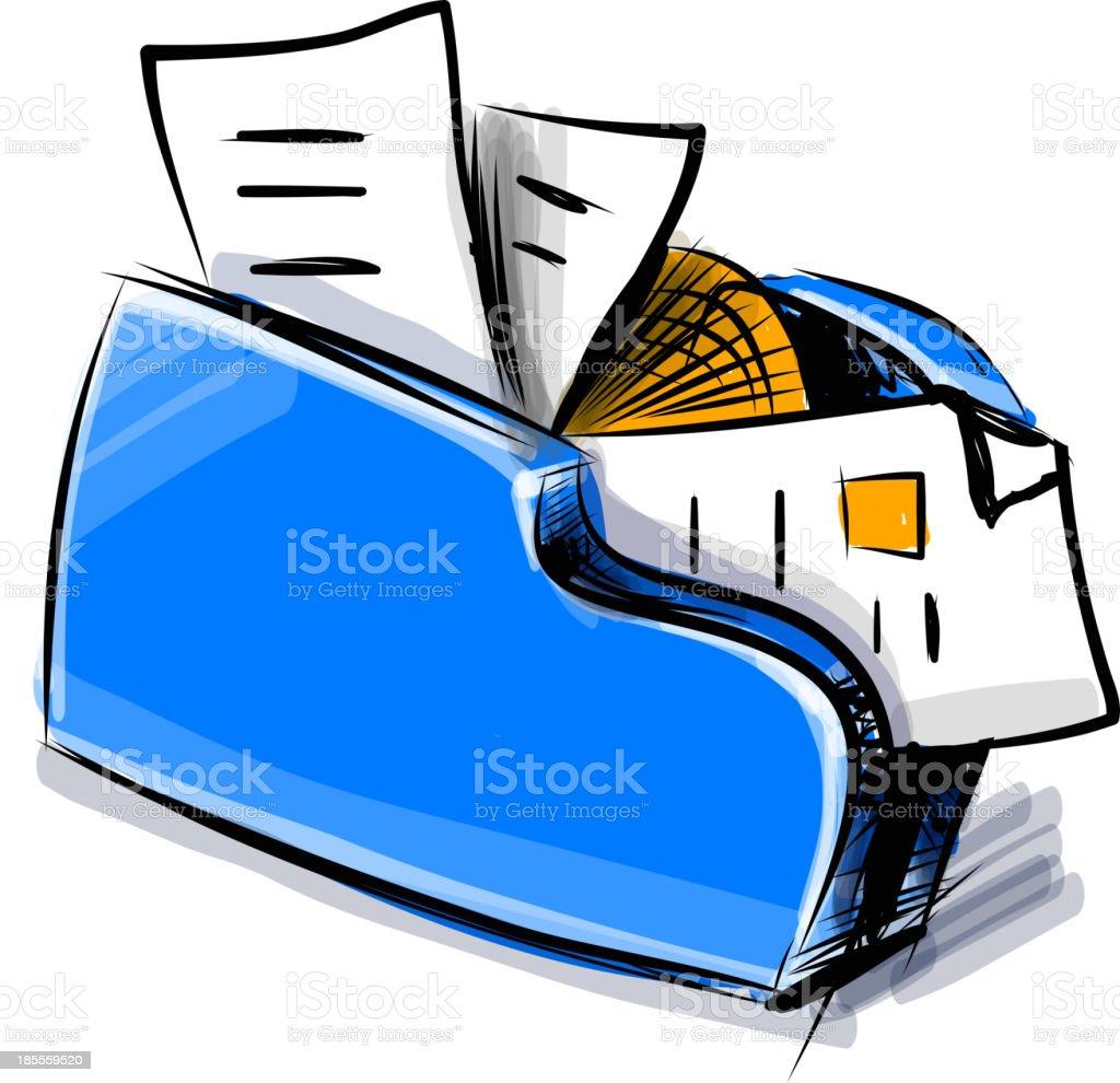 Folder icon cartoon vector illustration royalty-free stock vector art