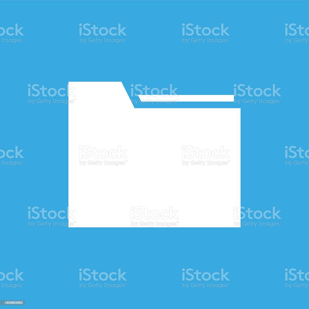 Folder icon on a blue background. vector art illustration